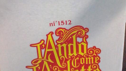 Stampa serigrafica t-shirt per Rivista Buzzi. ''L'andò come l'andette''